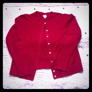 A New Day Red Button Down Cardigan